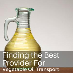 vegetable oil transport