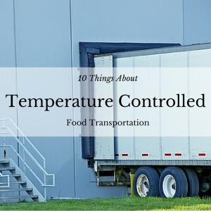 temperature controlled food transportation